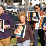 Walkers with posters of babies with their 3D ultrasound images -- Photo Credit: Denis Grasska, Asst. Editor, The Southern Cross