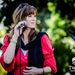 Singer, Songwriter, and Pro-life Witness Mary James on stage