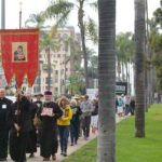 Priests lead their parishioners at the Walk